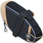 Detours Wedgie Seat Bag: LG Black/Tan Coated