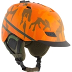 Lazer Dissent Winter 2016 Helmet With Rear LED Light And Multi-Mount: Orange Camouflage