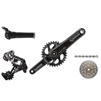 SRAM 2016 XX1 Kit-In-A-Box Twist Shift BB30 175mm 168Q 32 Tooth Direct Mount Chainring, No Brakes, No Bottom Bracket