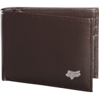 Fox Racing Leather Bifold Wallet: Brown