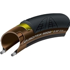 Continental Grand Prix 4000 S II Tire 700 x 23 Black/Transparent Folding Bead and Black Chili Rubber