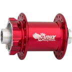 Onyx MTB Front 6 Bolt Disc Hub 100mm 32 Hole 15mm Thru Axle Candy Red