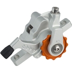 Paul Component Engineering Klamper Disc Caliper, Long Pull, Silver/Orange
