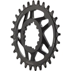 Wolf Tooth Components Elliptical Direct Mount Drop-Stop 28T Chainring: For SRAM Cranks with Removable Spiders, Black, 6mm Offset
