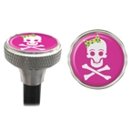 Clean Motion Valve Caps Girly Skull