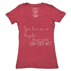 Clockwork Gears You Had Me At Bicycle T-shirt Red