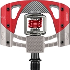 Crank Brothers Mallet 3 Pedals: Raw/Red