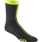 Louis Garneau Course Men's Sock: Bright Yellow/Black