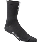 Louis Garneau Conti Long Men's Sock: Black/Gray