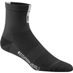 Louis Garneau Conti Men's Sock: Black/Gray