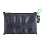 Green Guru Large Zipper Pouch from Recycled Bike Tube