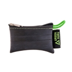 Green Guru Mini Zipper Pouch from Recycled Bike Tubes