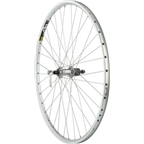 Quality Wheels Pavement Rim Brake Rear Wheel 700c 36h Shimano LX / Mavic A319 / DT Champion All Silver