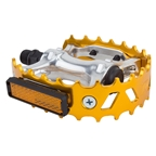 "Black Ops MX Beartrap 9/16"" Anodized Gold Colored Pedals"