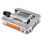 """Sunlite City Non-Slip Silver 9/16"""" Alloy Pedals with Rubber Grips"""