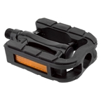"""Sunlite Urban Non-Slip Black 9/16"""" Alloy Pedals with Rubber Grippers"""