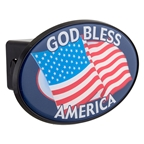 "Trik Topz 2"" Hitch Cover - God Bless America"