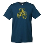 Mechanical Threads Fat Bike T-Shirt: Blue