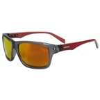 Serfas Hiline Polarized Sunglasses, Gloss Black & Red