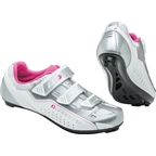 Louis Garneau Jade Women's Cycling Shoe: White/Silver/Pink