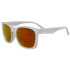 Serfas Decorah Sunglasses, Matte White With Red Polarized Lens