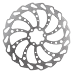 Clarks Wavey 6 Bolt Disc Rotor 185mm Silver