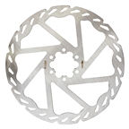 Clarks CD 6 Bolt Disc Rotor 180mm Silver
