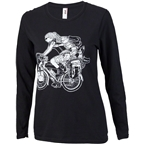 Surly Long Haul Trucker Joe Long Sleeve Women's Shirt: Black