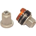 Kryptonite Security Wheelnutz Solid Axle Locking Nuts: Silver 3/8""