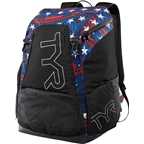 TYR Alliance 45L Backpack: USA Navy/Red