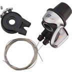 NuVinci C8 Cable Rider Shifter, Silver, Compatible with  N360 and N380 hubs