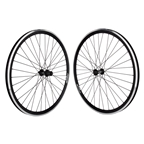 Wheel Master 700c Velocity Chukker 36 Hole T610 Series Black Wheelset
