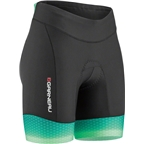Louis Garneau Pro 6 Carbon Women's Tri Short: Black/Mojito Green/Cricket