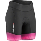 Louis Garneau Pro 6 Carbon Women's Tri Short: Black/Pink Glow/Purple Magenta