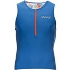 Zoot Performance Tri Tank Men's Triathlon Top: Vivid Blue Camo
