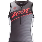 Zoot Tri Team Tank Men's Triathlon Top: Black/Race Day Red