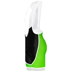 Primal Wear Frequency EVO Men's Cycling Bib Short: Green/Black/White