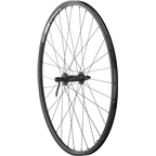 "Quality Wheels Front Wheel Value Series 26"" 100mm QR 32h Shimano / Alex DC19 / DT Industry All Black"