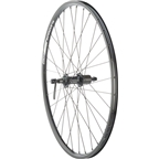 """Quality Wheels Rear Wheel Value Series 26"""" 135mm QR 32h Shimano / Alex DC19 / DT Industry All Black"""