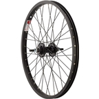 "Sta Tru Rear Wheel 20 x 1.75"" Solid Thread on Axle with 36 Spokes Includes Axle Nuts, Black"