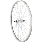 "Sta Tru Rear Wheel 26 x 1.5"" Solid Thread on Axle with 36 Spokes 5-8 Speed, Includes Axle Nuts, Silver"