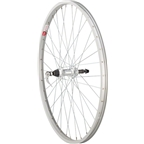 "Sta Tru Rear Wheel 26 x 1.5"" Quick Release Axle with 36 Spokes 5-8 Speed, Silver"