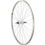 Sta Tru Rear Wheel 700 x 35mm Solid Thread on Axle with 36 Spokes 5- 8Speed, Includes Axle Nuts, Silver