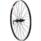 "Sta Tru Rear Wheel 26 x 1.5"" Quick Release Axle with 36 Spokes MTB HG 8-9 Speed, Black"