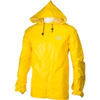 O2 Element Series Rain Jacket with Hood: Yellow