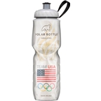 Polar Bottles Insulated Water Bottle, 24oz, Team USA Flame