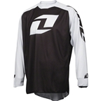 One Industries Vapor Lite Long Sleeve Jersey: Black/White