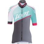 Zoot Cycle Team Women's Jersey: Aquamarine Blue/Passion Fruit Pink