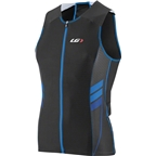 Louis Garneau Pro Carbon Comfort Men's Tri Top: Black/Curacao Blue