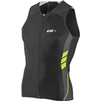 Louis Garneau Pro Carbon Men's Tri Top: Black/Bright Yellow